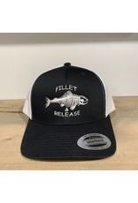 FILLET & RELEASE FILLET & RELEASE SNAPBACK CAP Black/White w/full logo