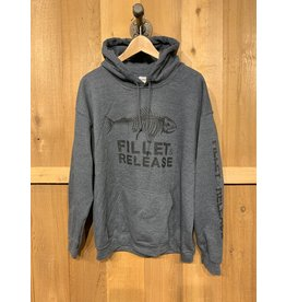 FILLET & RELEASE FILLET & RELEASE GREY LIGHTWEIGHT HOODIE