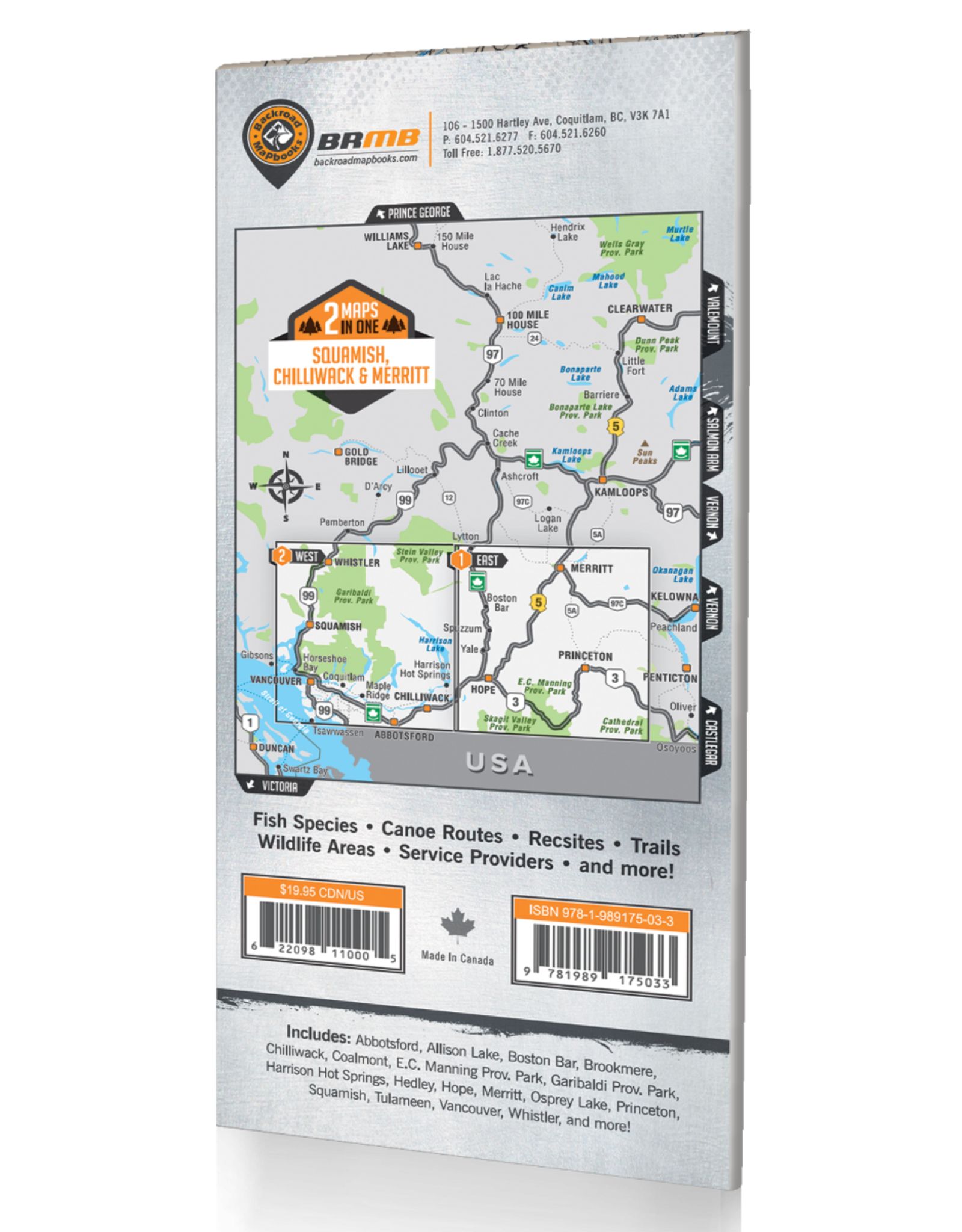 BACKROAD MAPBOOKS BRMB - SQUAMISH, CHILLIWACK & MERRITT BC (WATERPROOF)