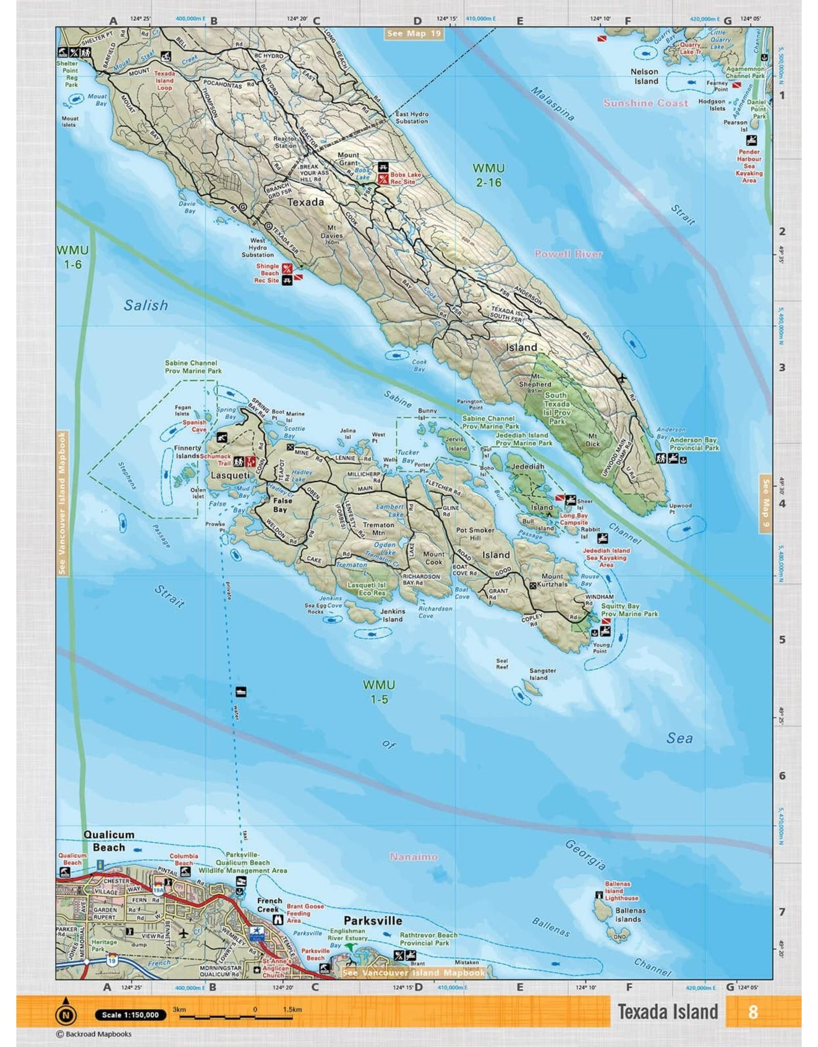 BACKROAD MAPBOOKS BRMB - VCBC8 - TEXADA ISLAND