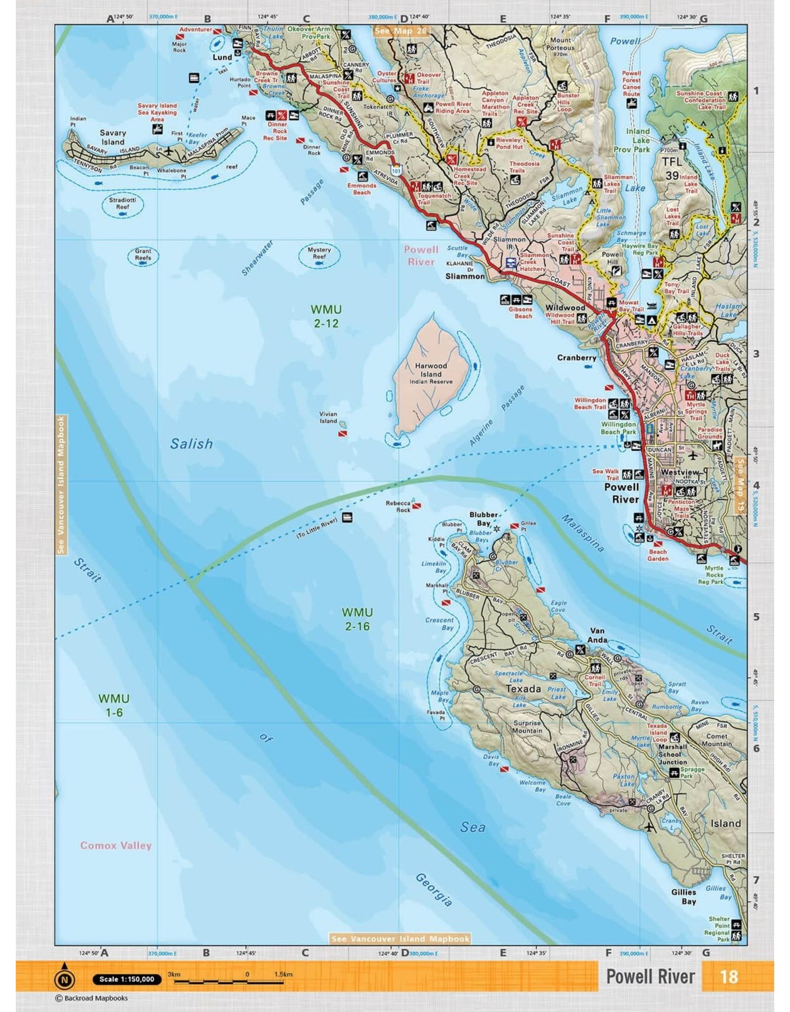 BACKROAD MAPBOOKS BRMB - TOPO MAP (VCBC 18- POWELL RIVER)