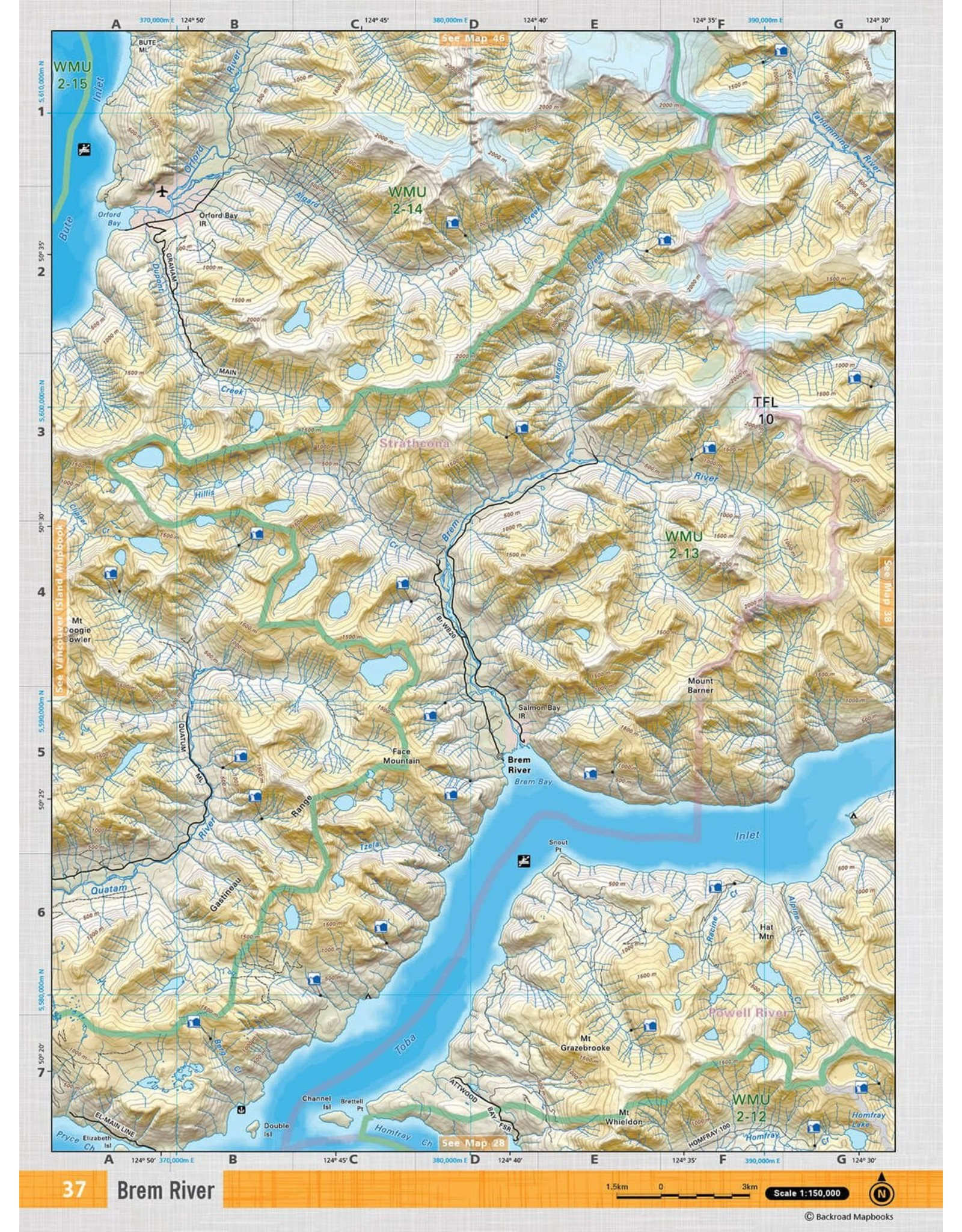 BACKROAD MAPBOOKS BRMB - VCBC37 - BREM RIVER