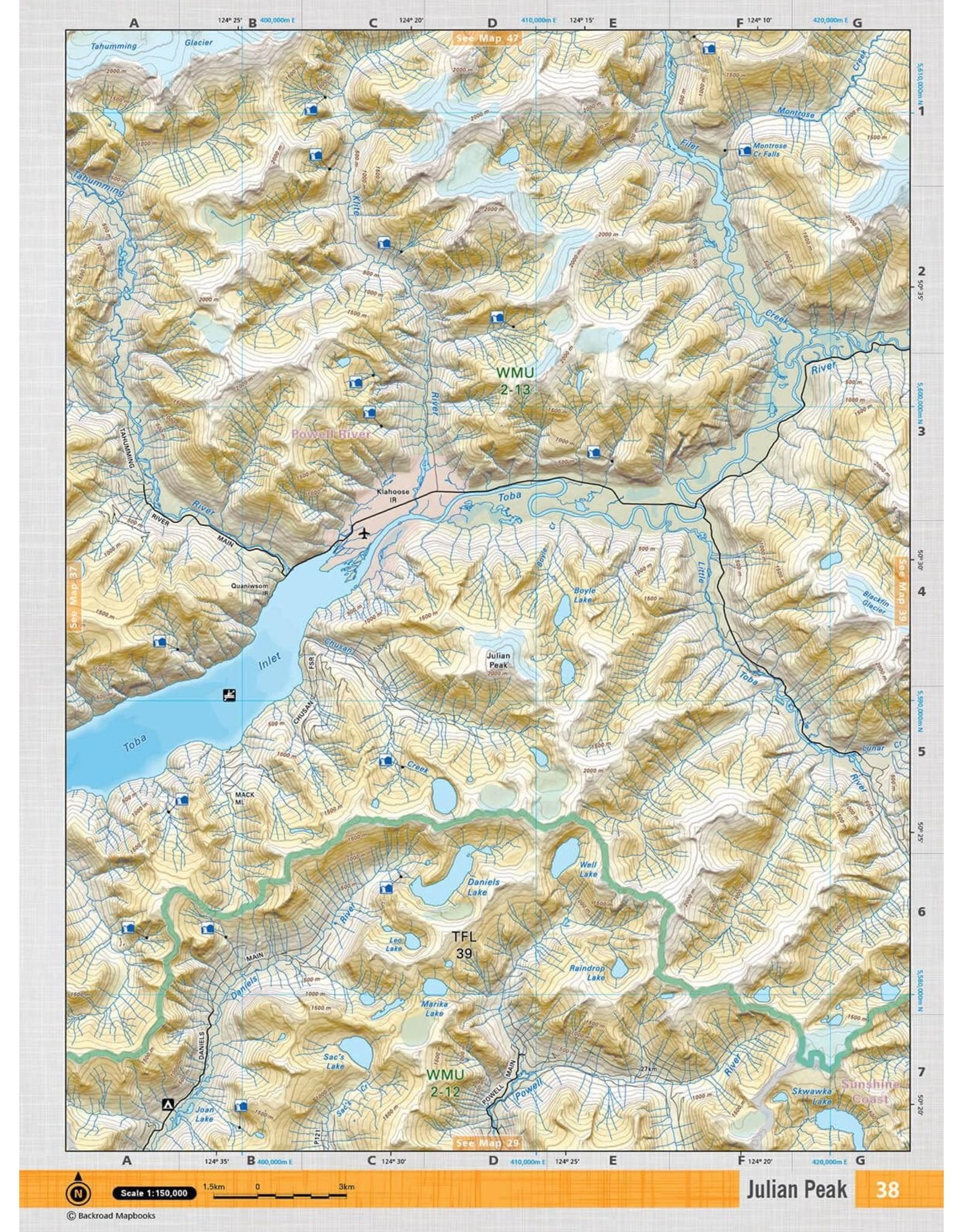 BACKROAD MAPBOOKS BRMB - VCBC38 - JULIAN PEAK