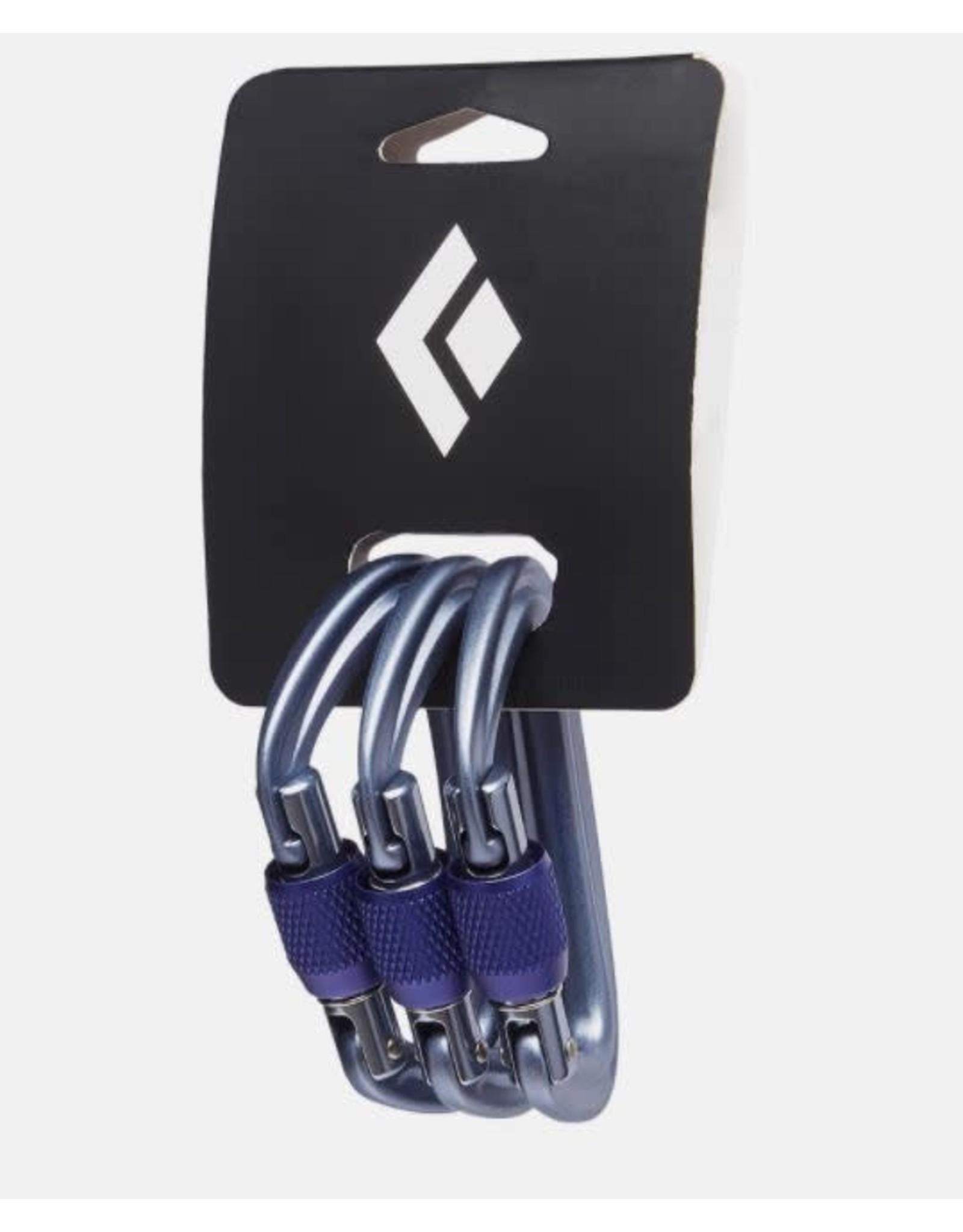 BLACK DIAMOND BLACK DIAMOND LITEFORGE CARABINER GREY 3 Pack BD2102491003ALL1