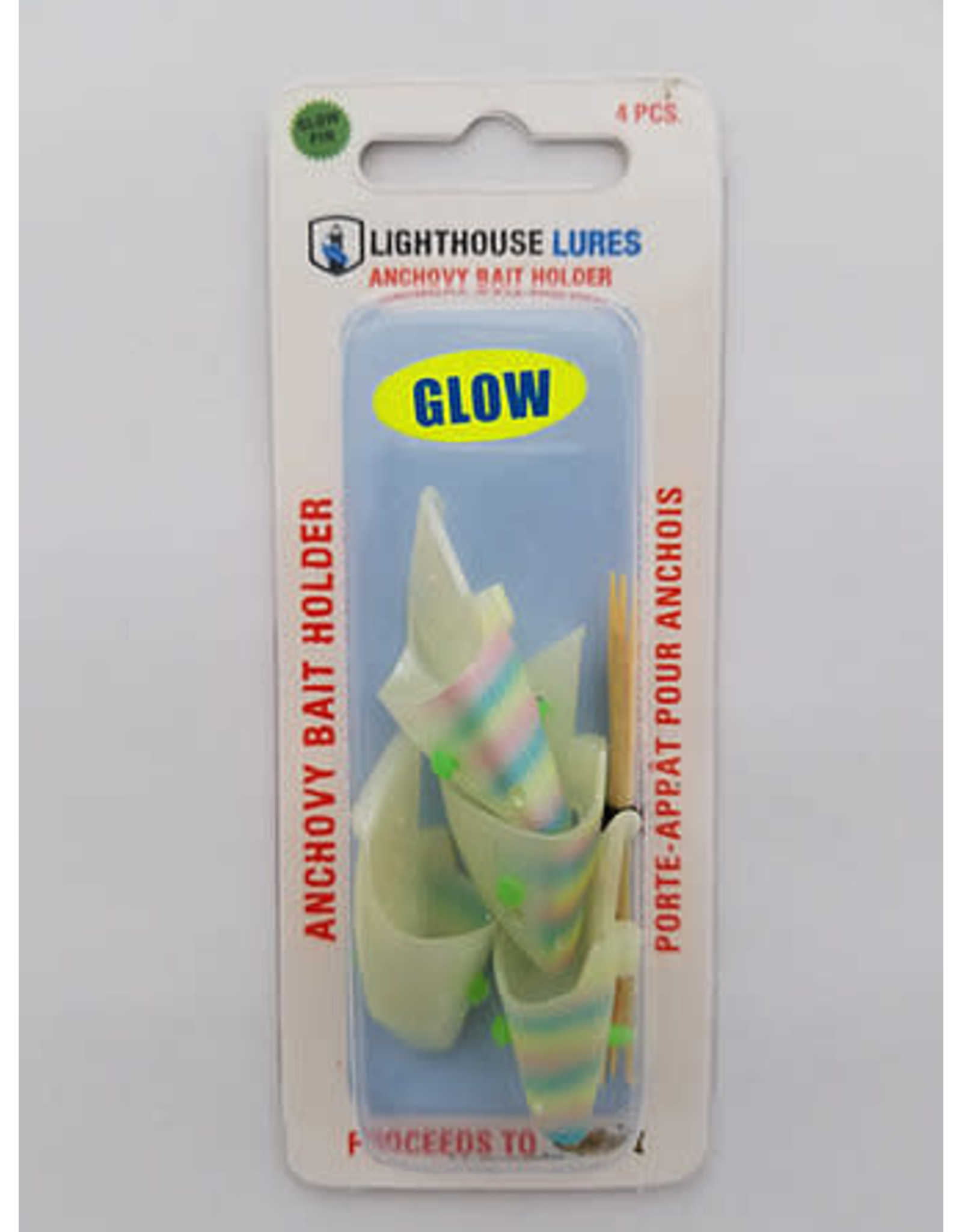 LIGHTHOUSE LURES LIGHTHOUSE ANCHOVY BAIT HOLDER 4 PK