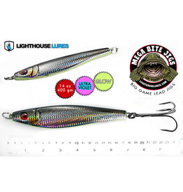 LIGHTHOUSE LURES MEGA BITE DEEP DROP JIG 14oz (MYLAR BLK) LDJG14BS-602