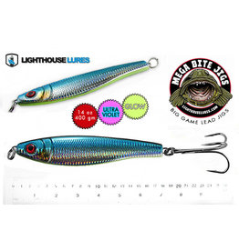 LIGHTHOUSE LURES MEGA BITE DEEP DROP JIG 14oz (MYLAR BLUE)  LDJG14BS-610