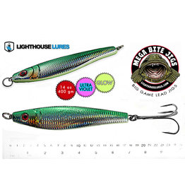 LIGHTHOUSE LURES MEGA BITE DEEP DROP JIG 20oz (MYLAR GRN) LDJG20GS-608