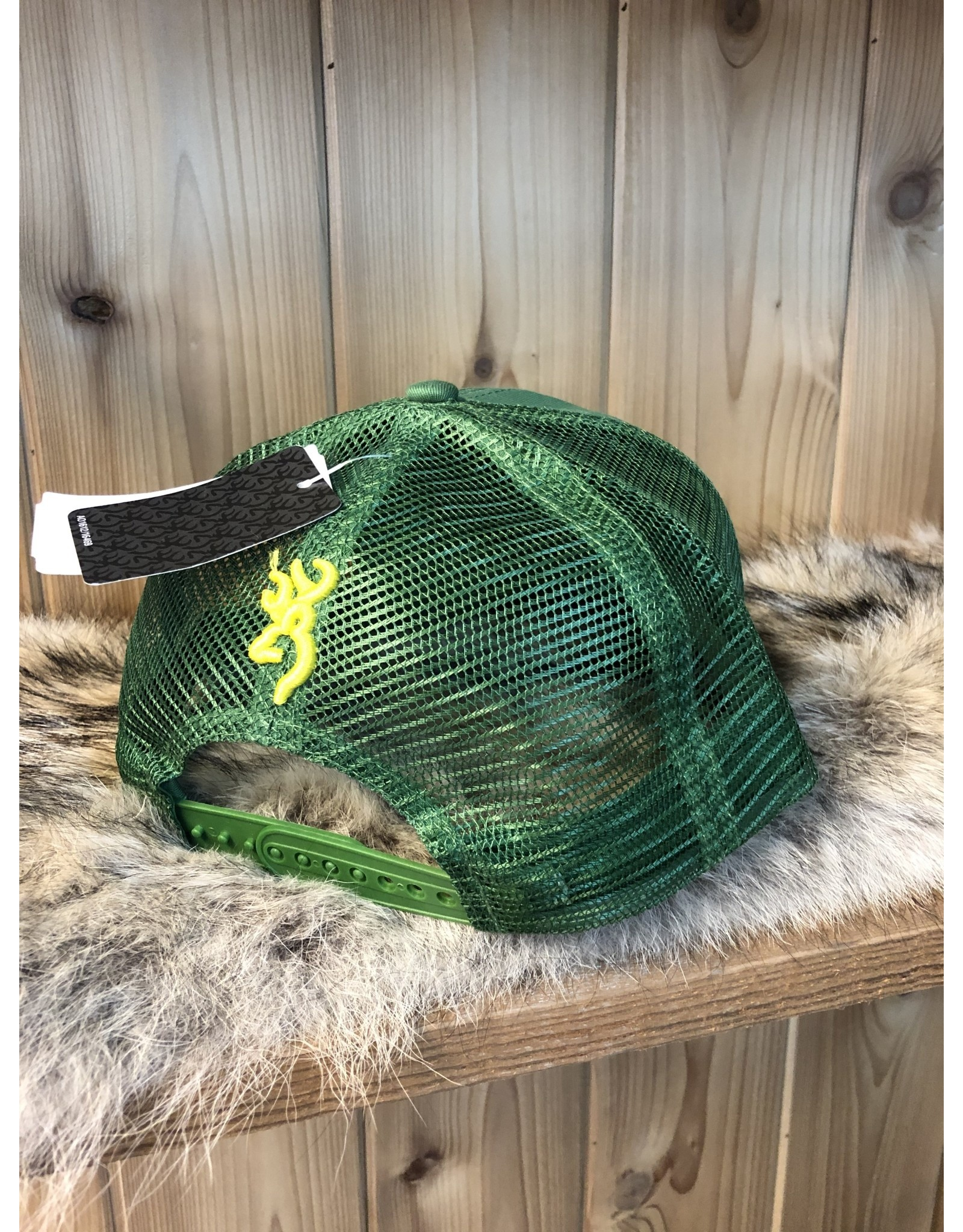 BROWNING BROWNING SNAPBACK TRUCKER HAT (GREEN)