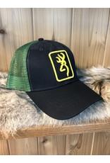 BROWNING BROWNING SNAPBACK TRUCKER HAT (BLACK & GREEN)