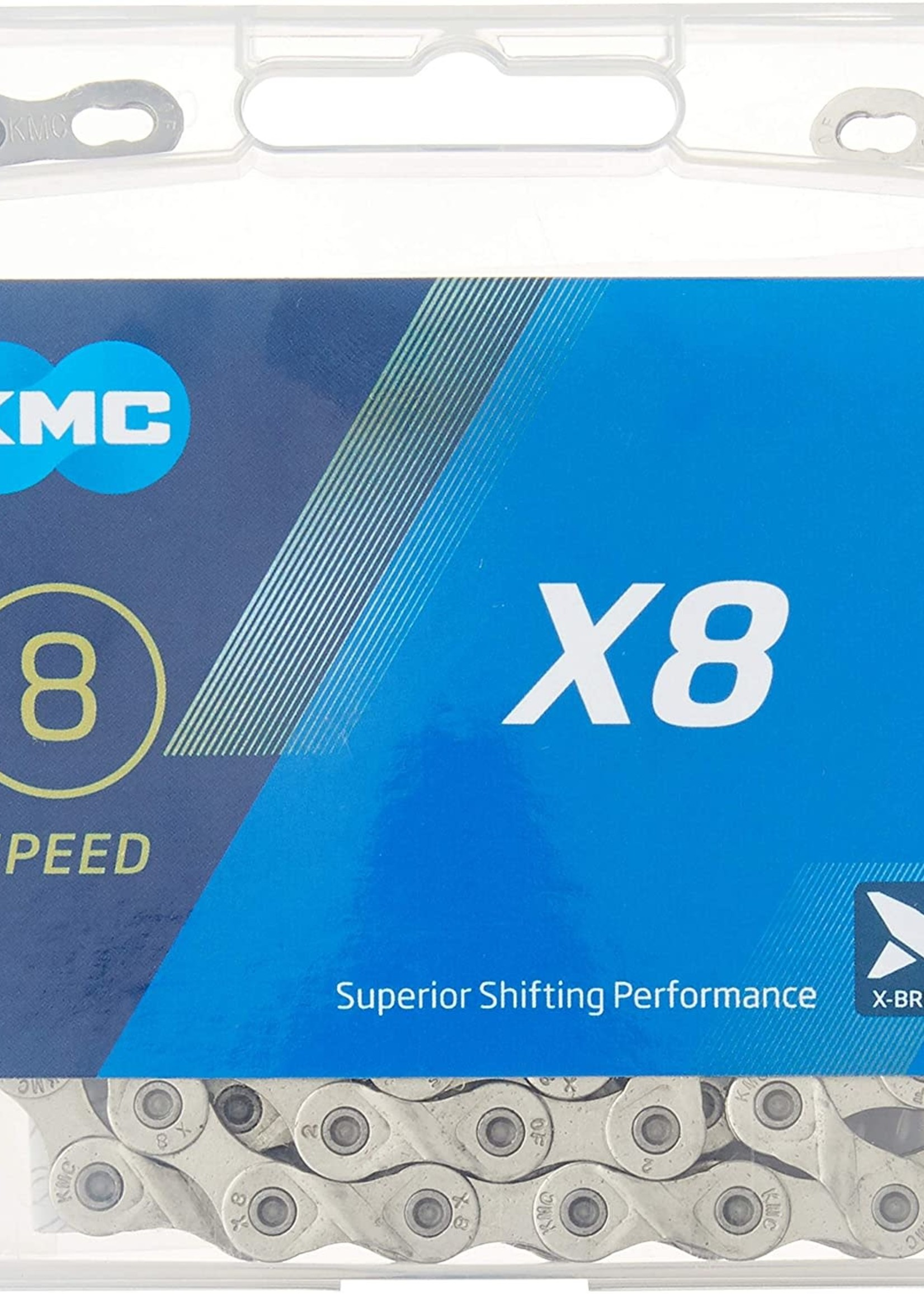 KMC X8.99 Chain - 8-Speed, 116 Links, Silver