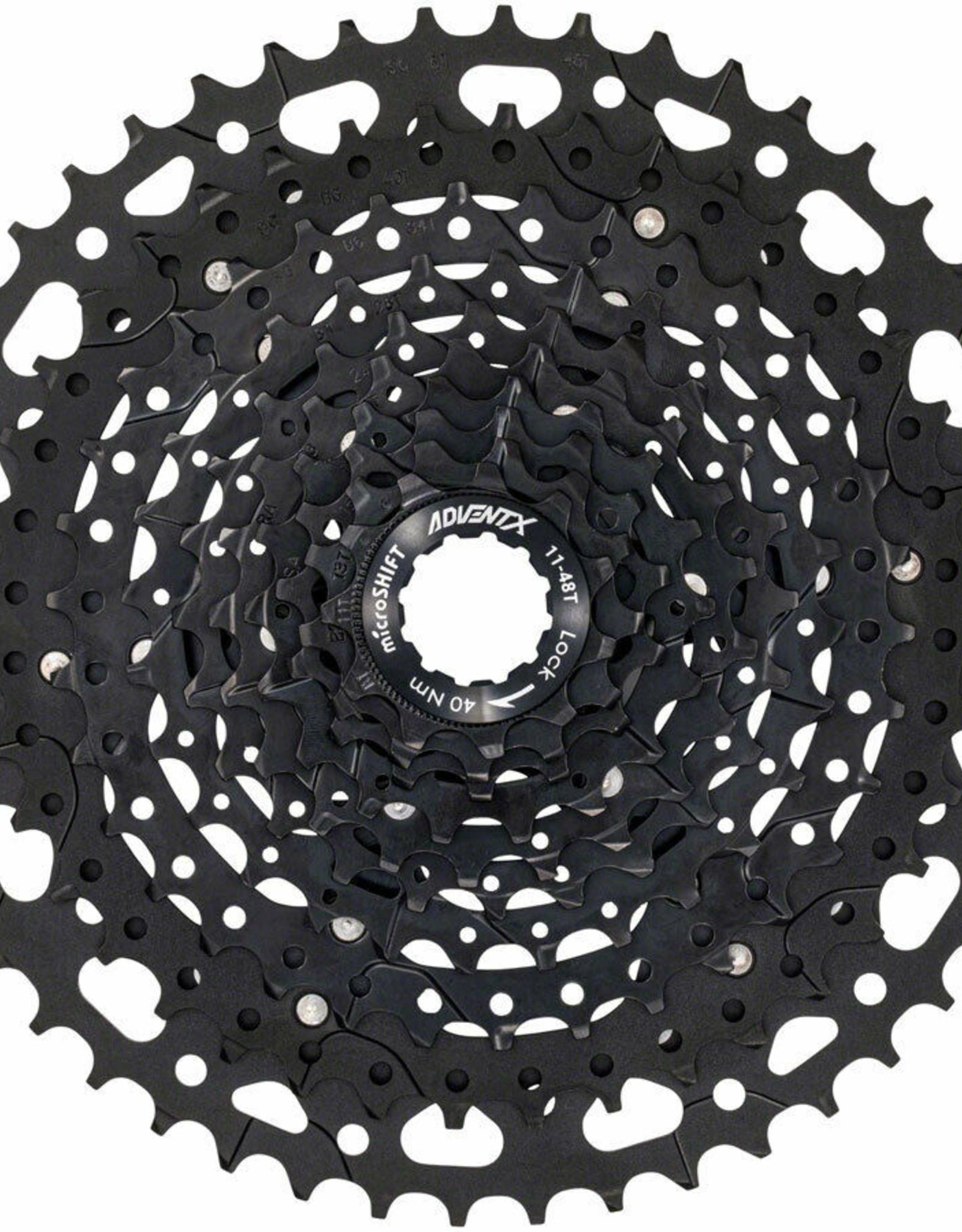 microSHIFT microSHIFT ADVENT X Cassette - 10 Speed, 11-48t, Black, Alloy Spider