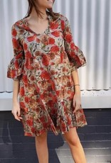 Naudic Naudic Lulu Dress Sangria Print
