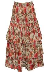 Naudic Naudic NAUG-1925 Imperial Print Sangria Skirt