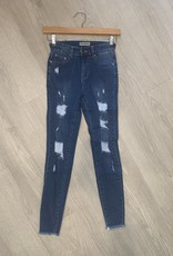 Onyx Designer Ripped Jeans with Backing