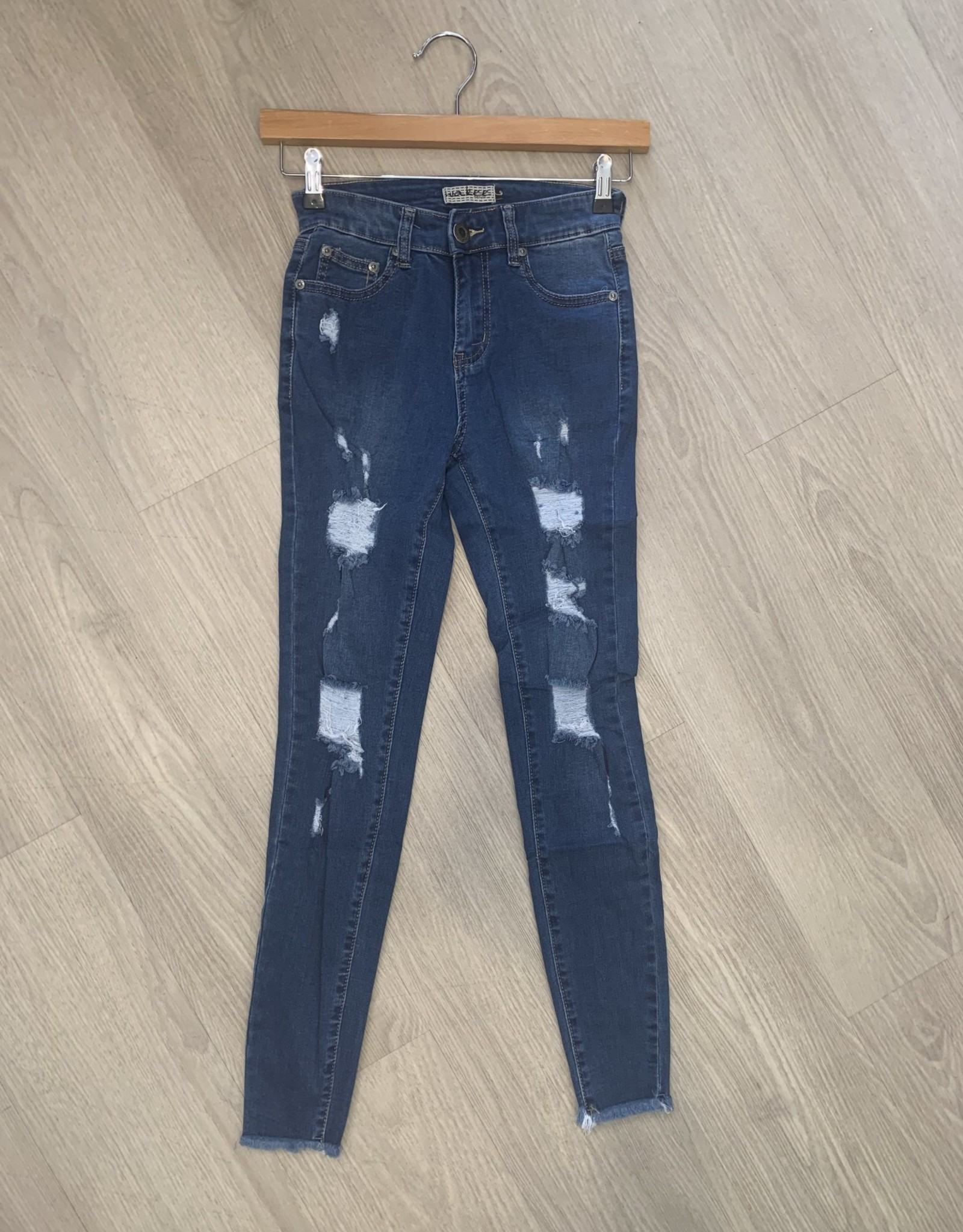 Wakee - Onyx Designer Ripped Jeans with Backing