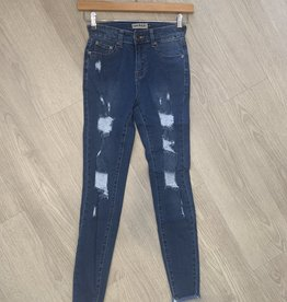 Wakee Onyx Designer Ripped Jeans with backing