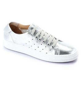 Bueno Leather Sneaker Silver