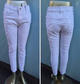 Designer Ripped Jeans White