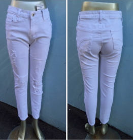 Wakee Designer Ripped Jeans White