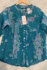 Wednesday Lulu Wednesday Lulu Floral Linen Top