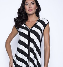 Frank Lyman V-Neck Striped Top