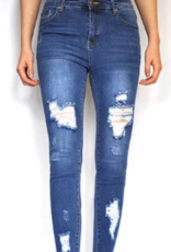 Wakee - High Waisted Ripped Jeans