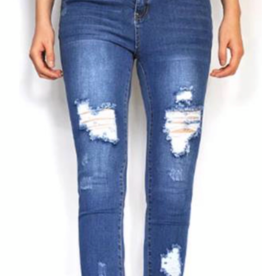 Wakee 10136 High Waisted Ripped Jeans