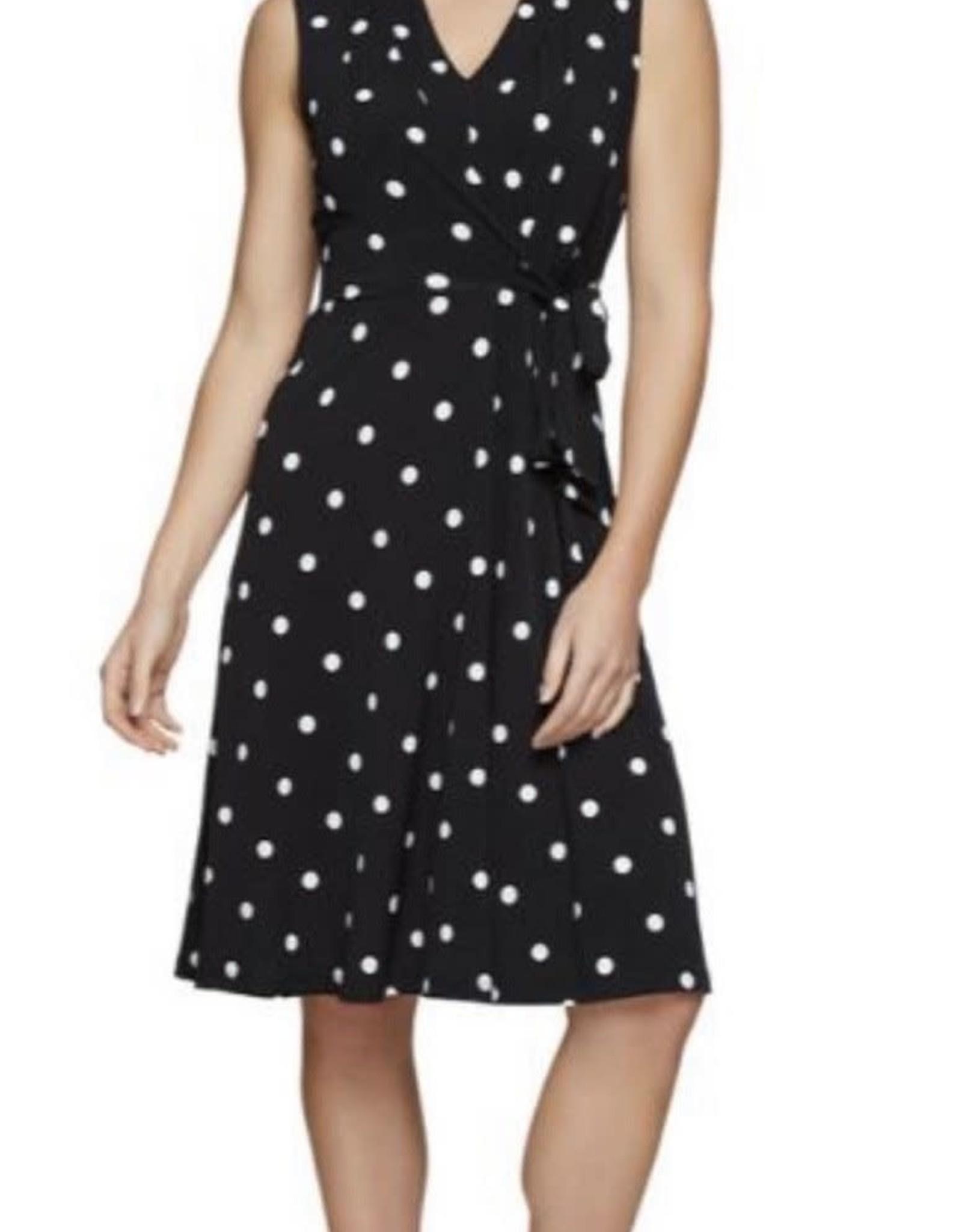 Jersey Girl Jersey Girl - Spotted dress Black