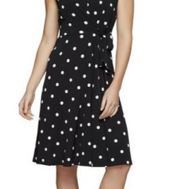 Jersey Girl Spotted Dress Black