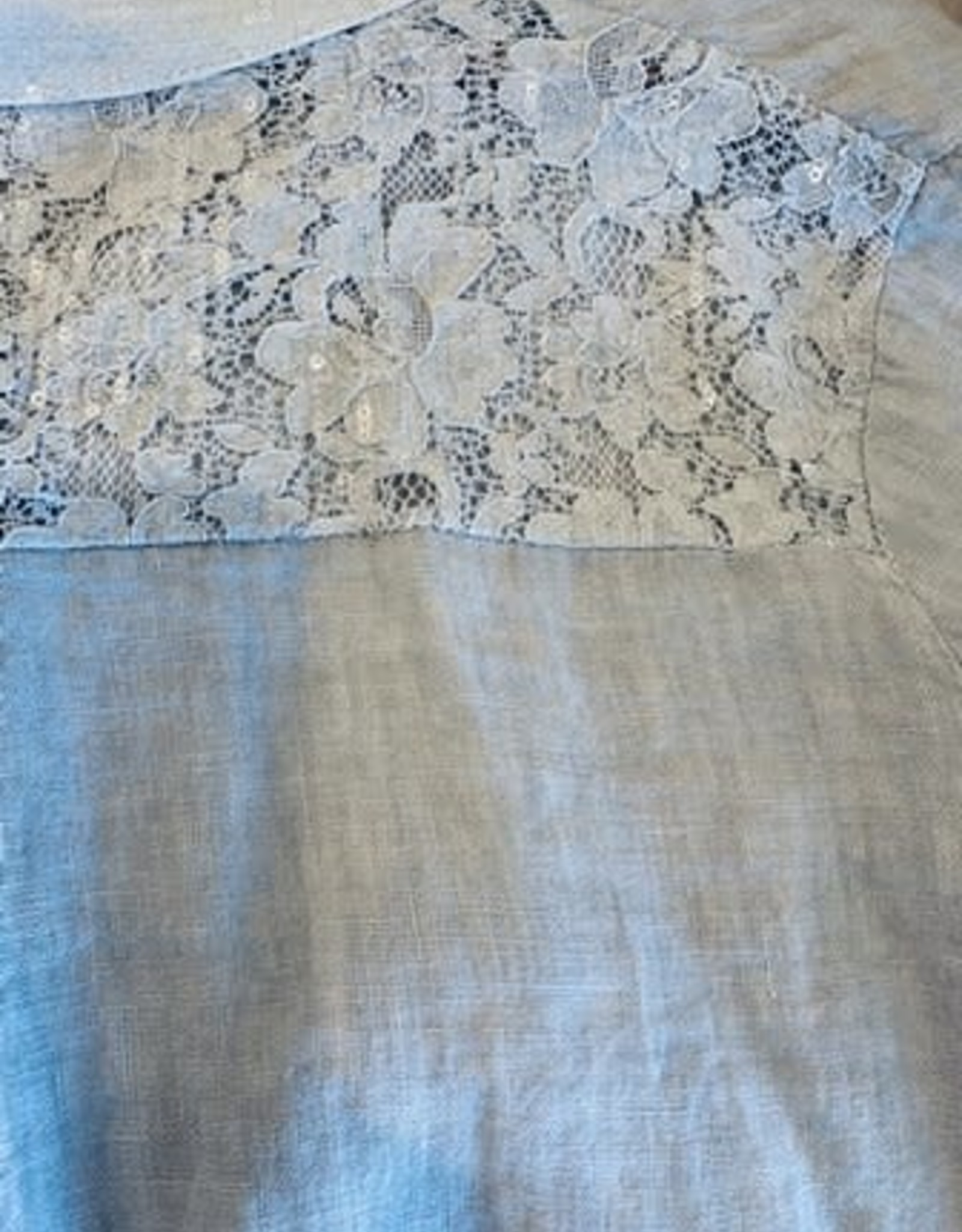 Wednesday Lulu Wednesday Lulu Silver Linen Top