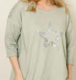 La Strada La Strada Star Cotton Sweatshirt
