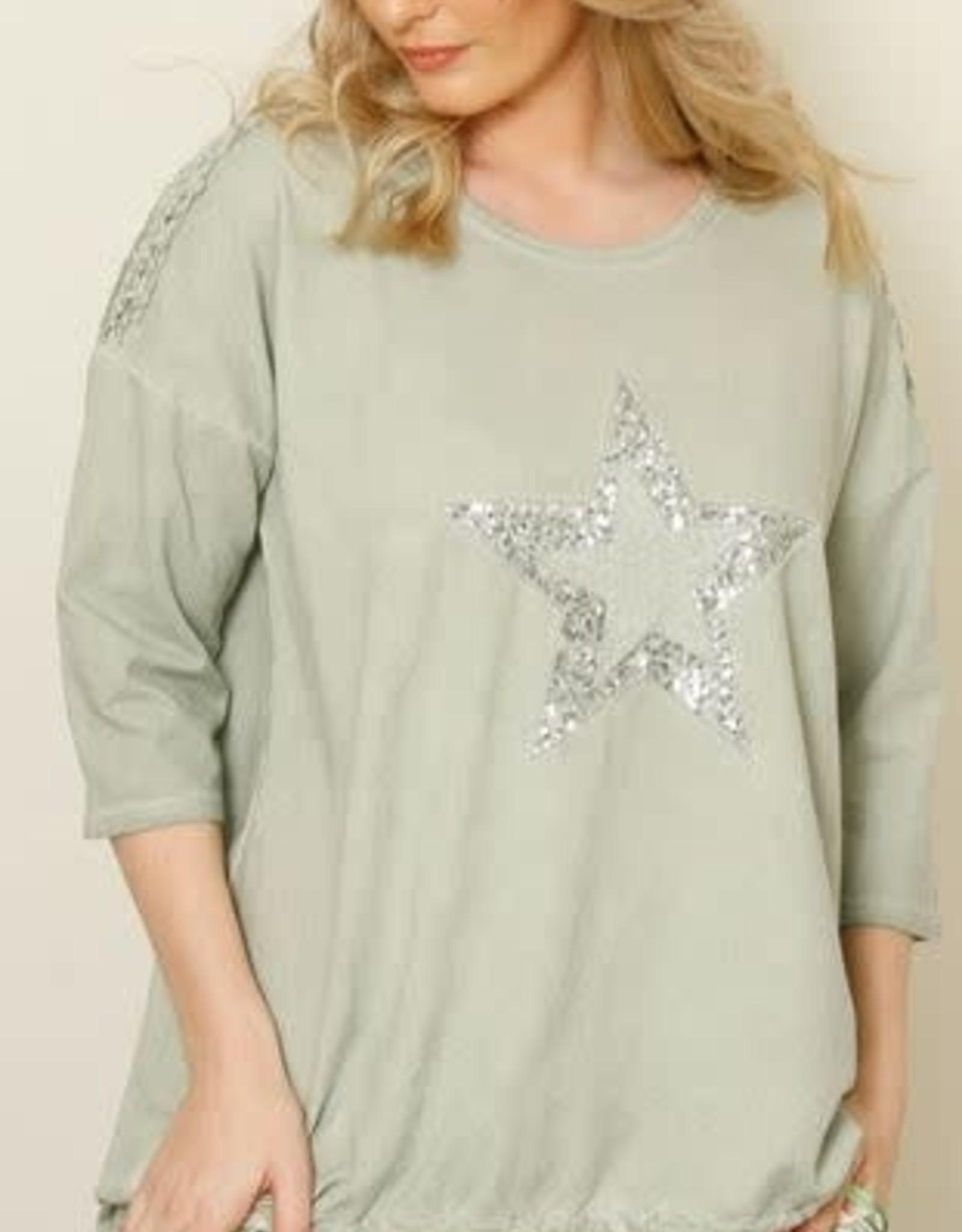 La Strada La Strada LSTU21-22 Star Cotton Sweatshirt