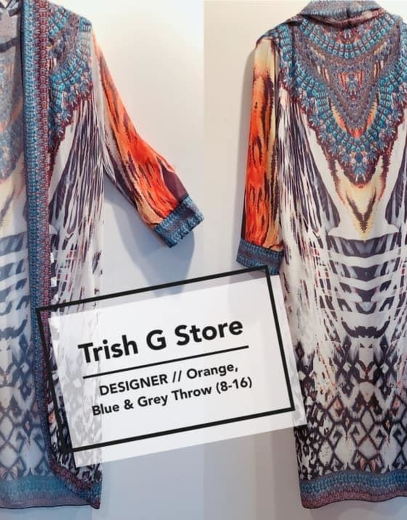 Trish G - Blue/Grey Kimono