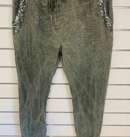 Wednesday Lulu Wednesday Lulu Viscose Pants Sage Green
