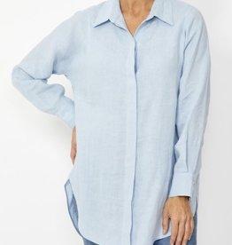 Ping Pong White Linen Boyfriend Shirt