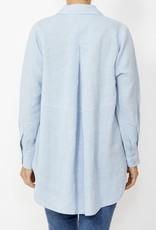 Ping Pong Ping Pong - White Linen Boyfriend Shirt