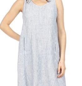 Jump Sleeveless Stripe Linen Dress