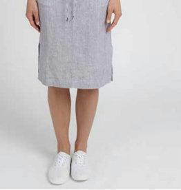 Jump Stripe Linen Skirt