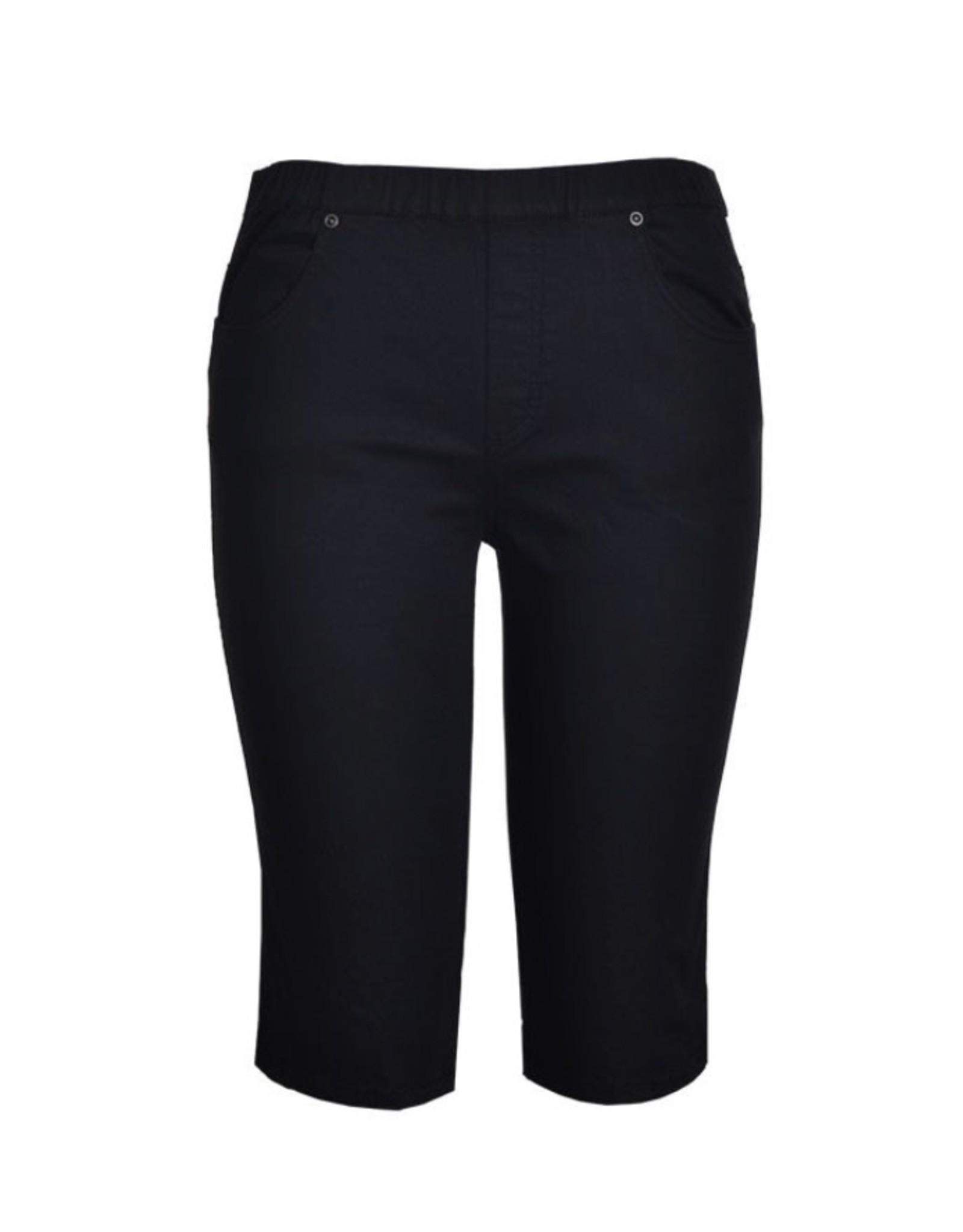 Cafe Latte Cafe Latte - White knee length Cotton Spandex Shorts