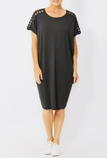 Ping Pong Ping Pong - Drop Shoulder Lattice Dress