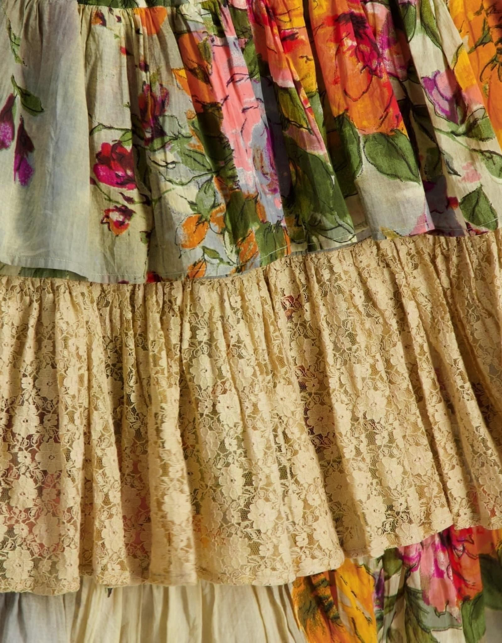 Naudic Naudic Kashmir Print Sangria Skirt