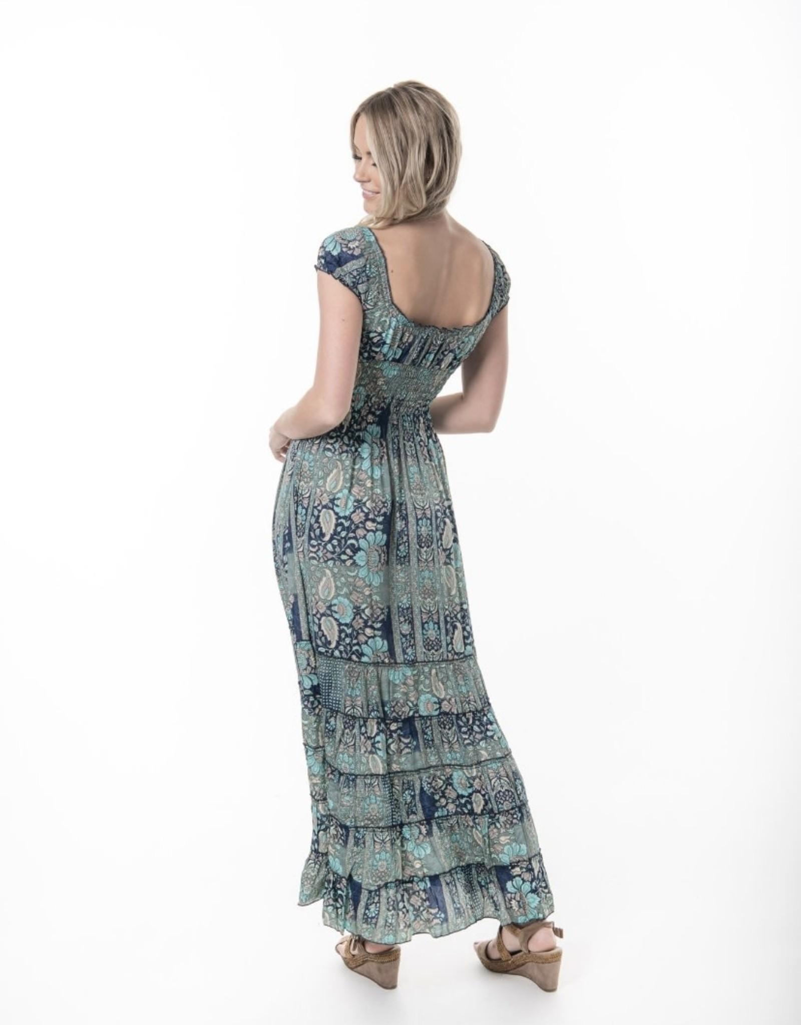 Cienna Rosa Aqua Dress
