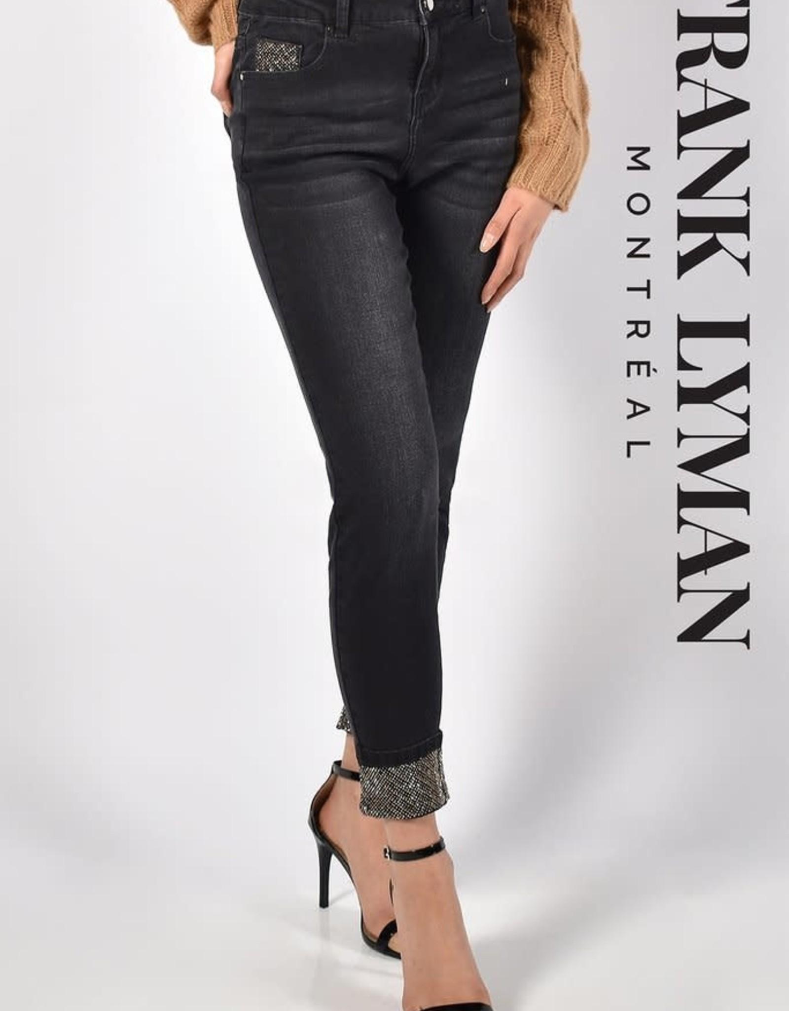Frank Lyman Diamond Cut Sequin Jeans