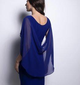Frank Lyman Chiffon Shawl Drape Dress