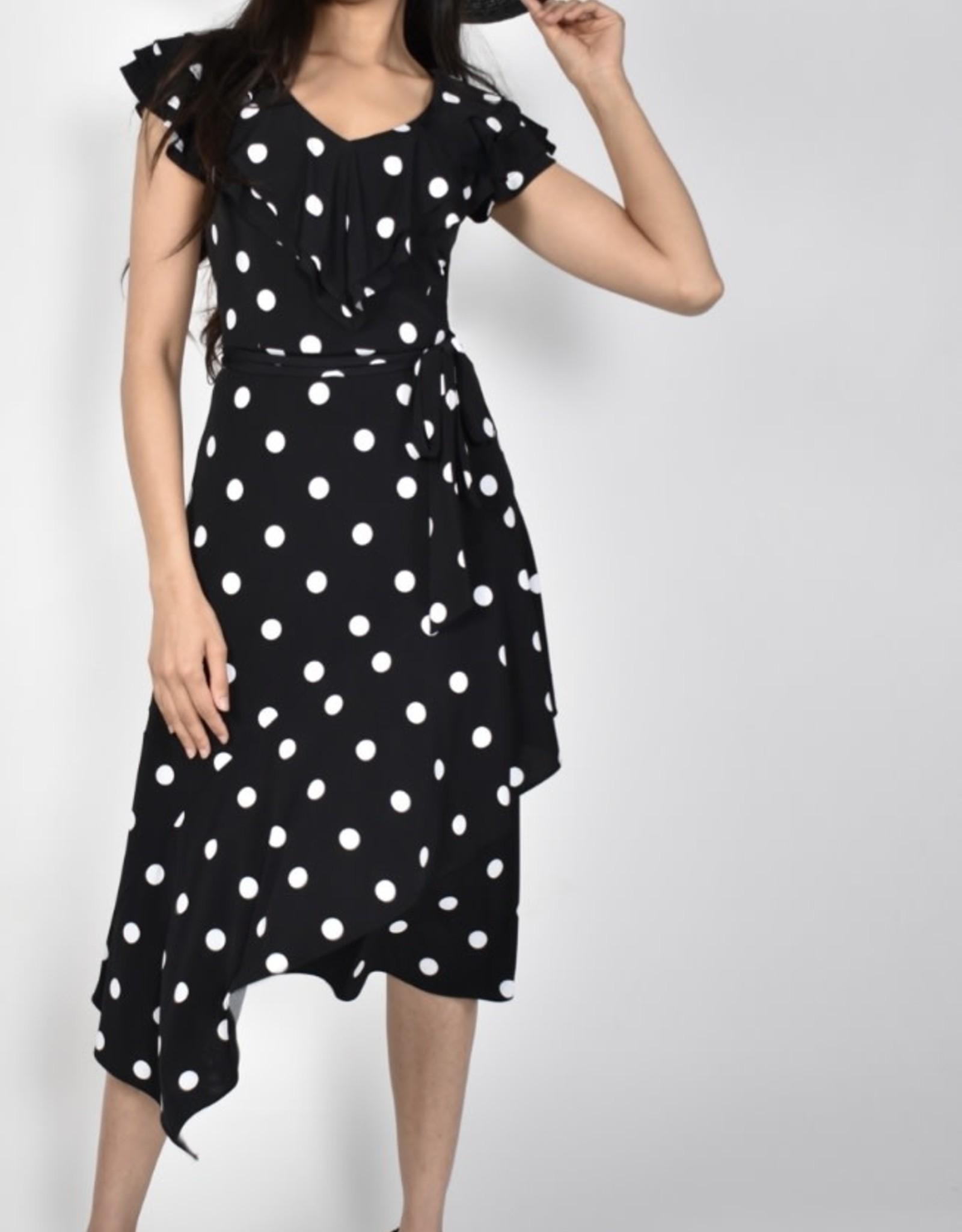 Frank Lyman Black/White Ruffle  Dress