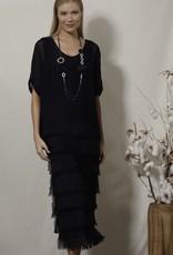 Stunning Layered Silk/Viscose Dress