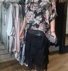 La Strada Silk/Viscose Sequin Edge Top