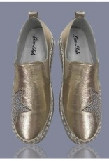 Aidangus A Touch of Bling Leather Sneakers
