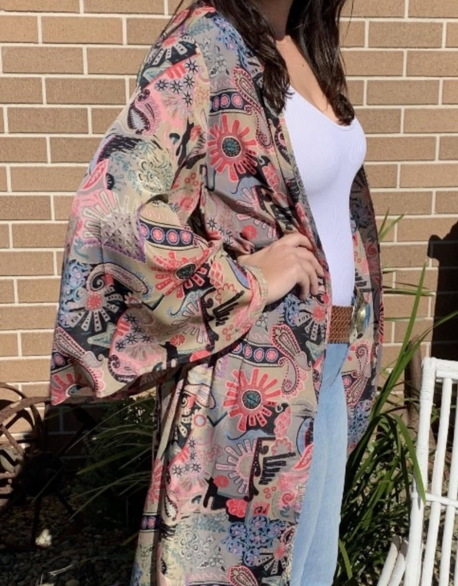 Lily T Long Line Kimono
